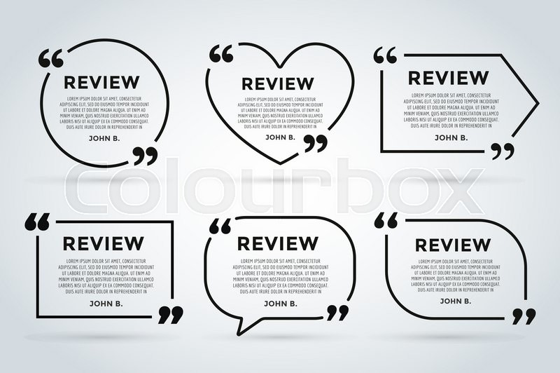 Website review quote citate blank template website review for Design review document template