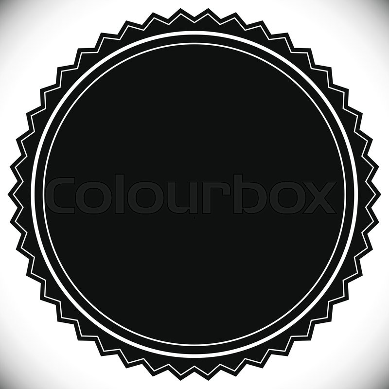 blank empty stamp seal or badge template stock vector colourbox