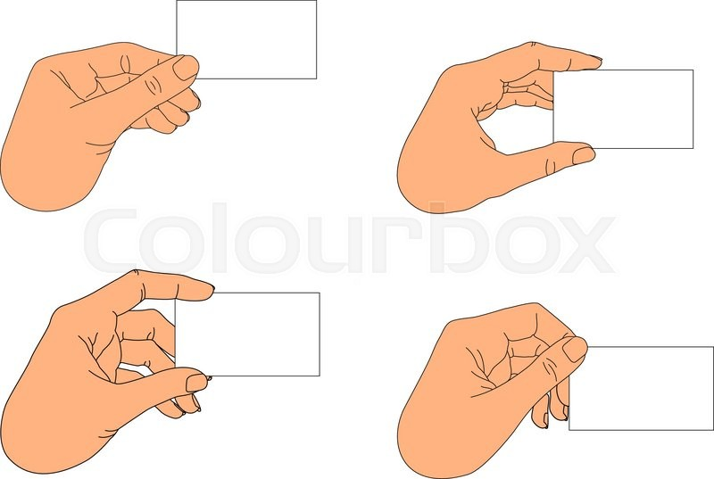 Hand holding blank business card in various positions stock vector hand holding blank business card in various positions stock vector colourbox colourmoves