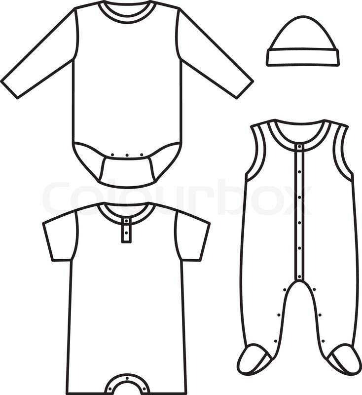 1599699 set of the baby clothes vector illustration new 52 baby clothes templates vector baby onesie,Childrens Clothes Templates