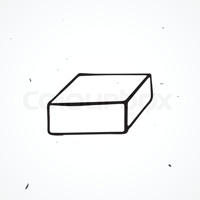 vector hand drawn box isolated doodle object stock vector colourbox