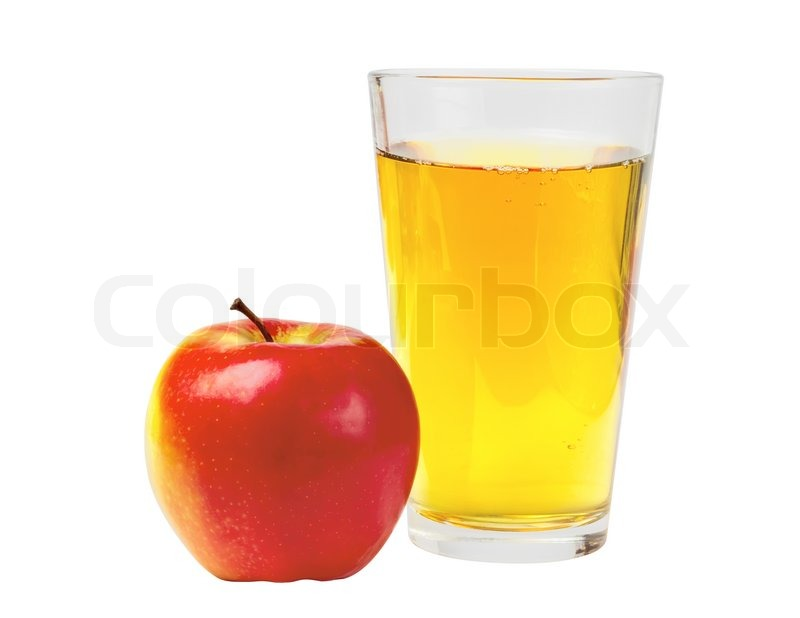 Apple White With Glasses Glass of Apple Juice And Red