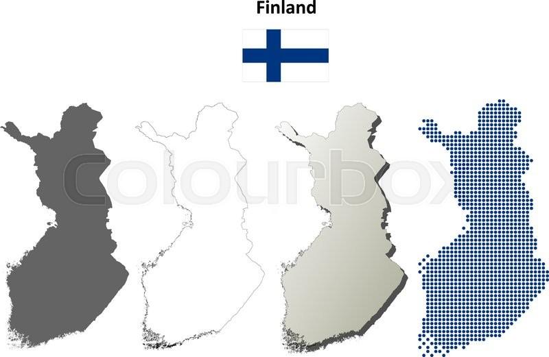 Finland blank detailed vector outline ... | Stock vector ...