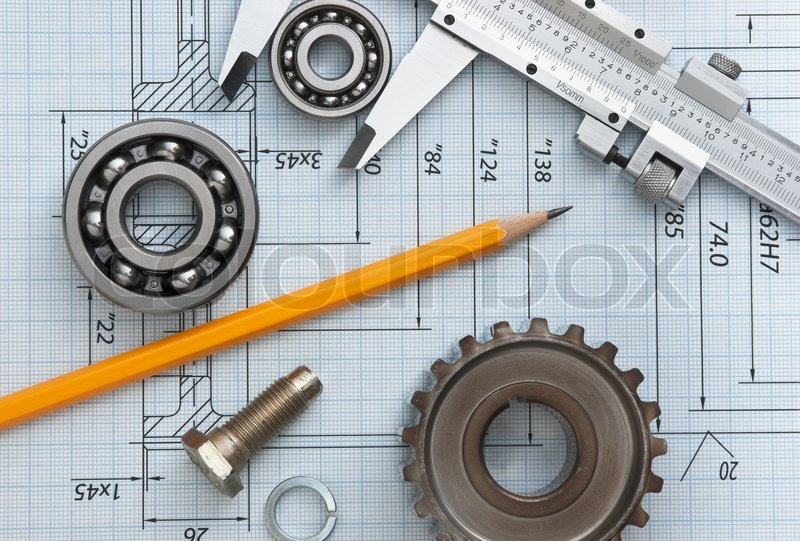 Tools Used In Drafting Equipment Or Instrument : Technical drawing and tools stock photo colourbox