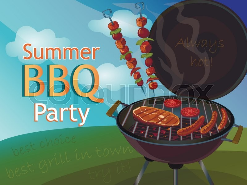 Vintage Bbq Poster For Your Design Stock Vector