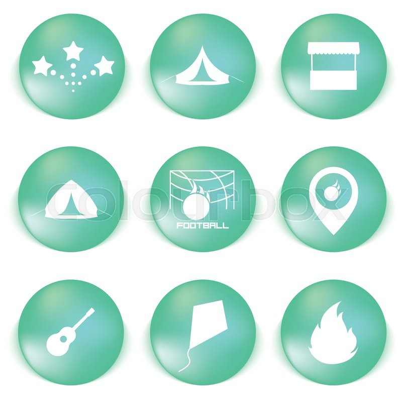 Icon set for holidays, relax, travel, weekend in vector, vector