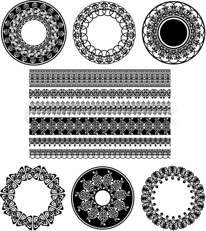 I Designed A Vintage Looking Border Art For You To Use In: Many Lace Border Ornaments. Black And White Vector