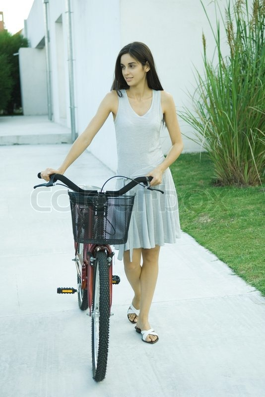 Eric Audras Altopress Maxppp Woman Walking With Bicycle Full