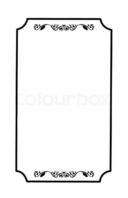 rahmen mit ornament auf wei em hintergrund vektorgrafik. Black Bedroom Furniture Sets. Home Design Ideas