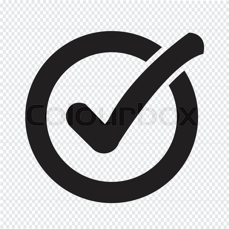 Check List Button Icon Stock Vector Colourbox