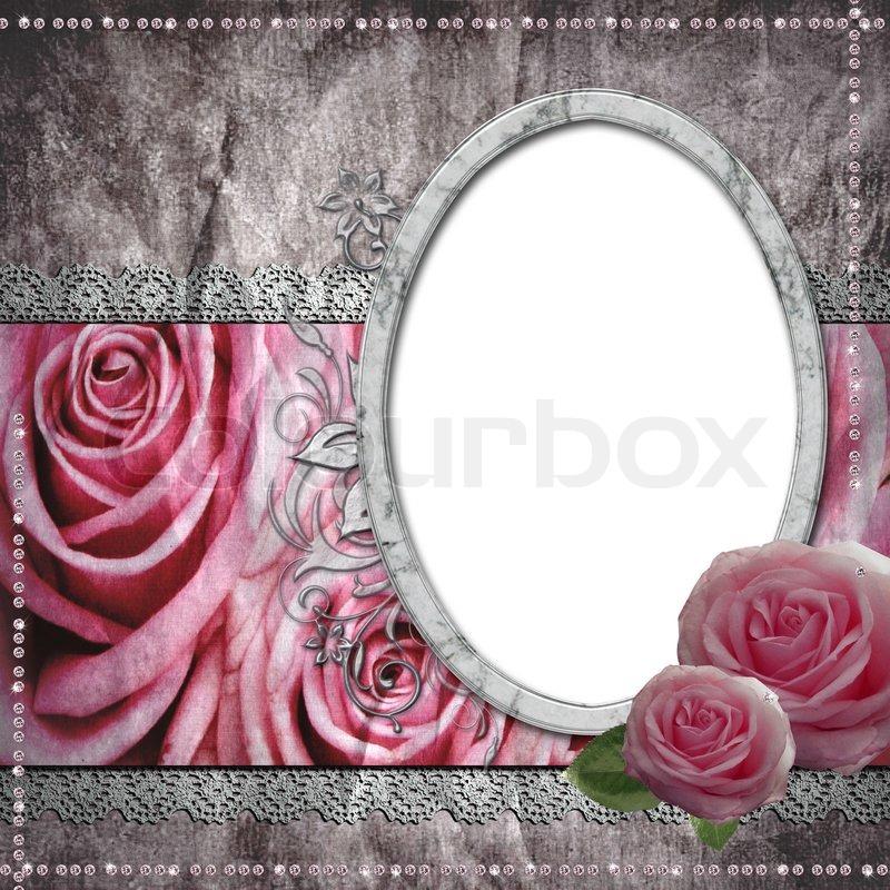 vintage wedding frame for photo stock photo colourbox