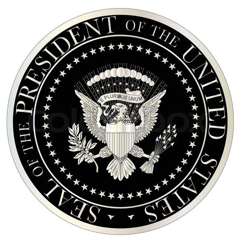 a depiction of the seal of the president of the united states of rh colourbox com presidential seal vector logo presidential seal vector logo