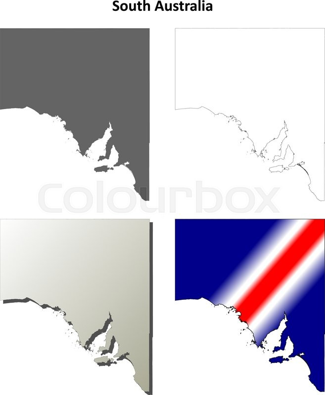Australia Map Outline Vector.South Australia Blank Detailed Outline Stock Vector Colourbox