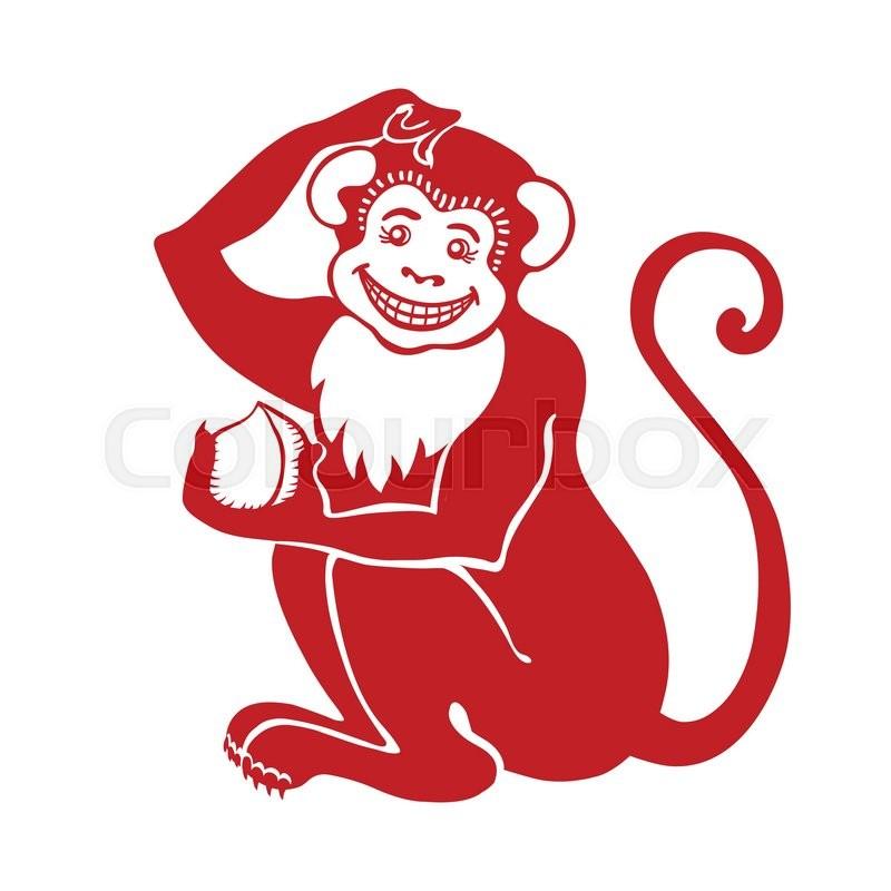 Red Monkeyinese Zodiacanslation Symbol Of 2016 Year Signicon