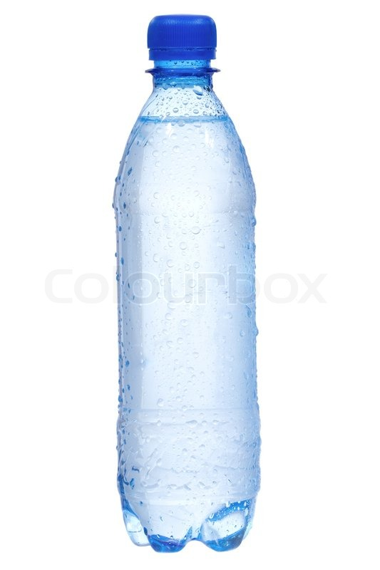 Plastic bottle with water drops on white background for What to do with empty plastic bottles