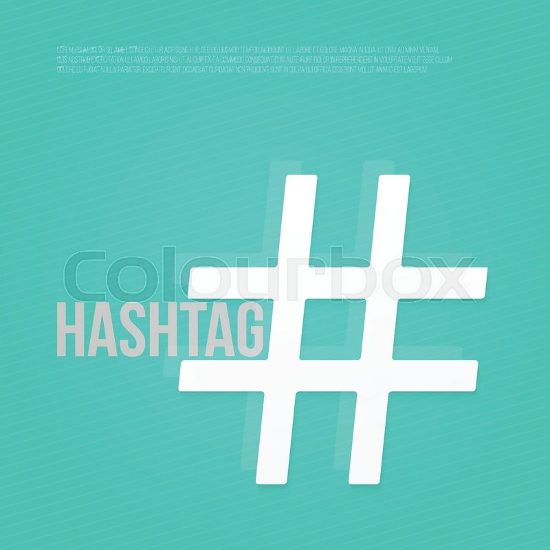 Text Space And Hash Tag Sign Social Media Promotion