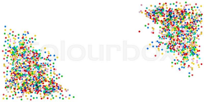 Confetti banner background  Birthday,     | Stock image