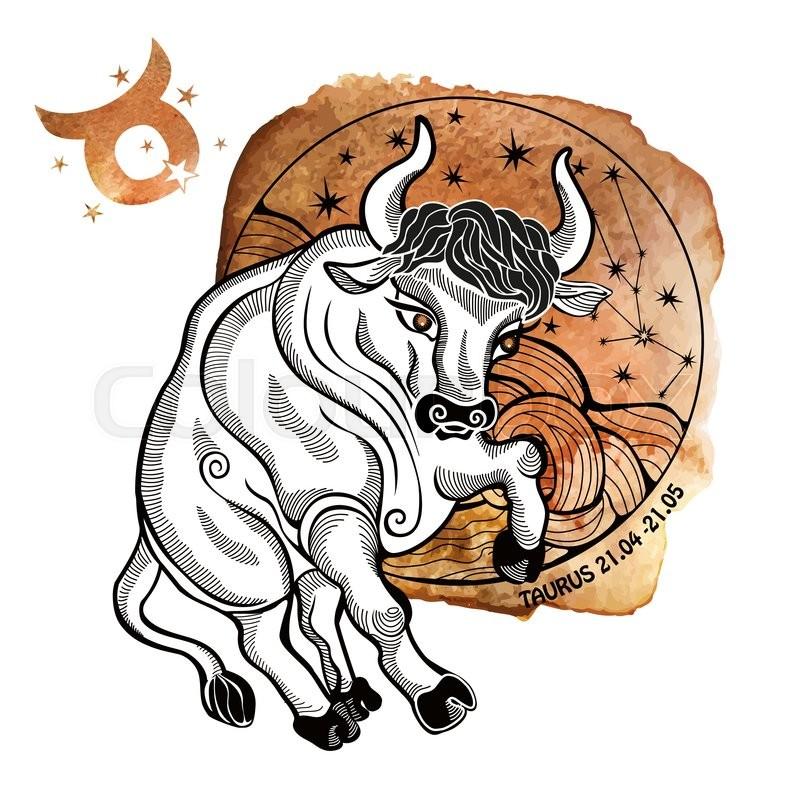 Tairus Zodiac Sign Horoscope Constellationstars In Circle