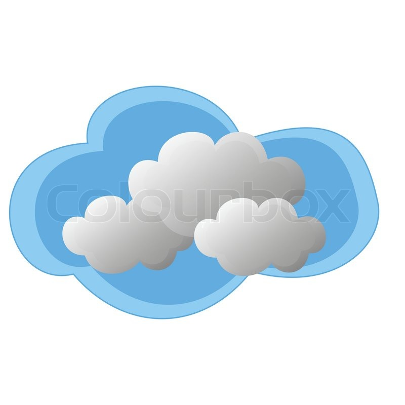 icon of cloudy weather on a white stock vector