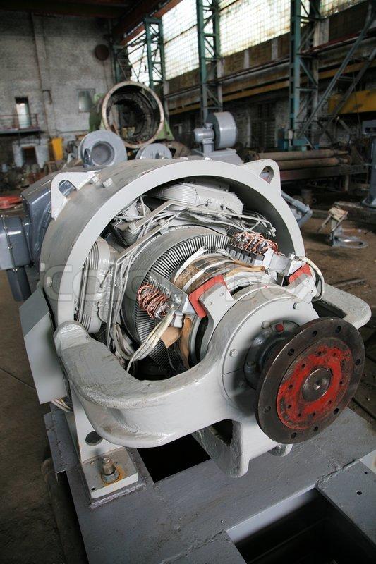 The electric motor at a modern repair factory stock for Abc electric motor repair
