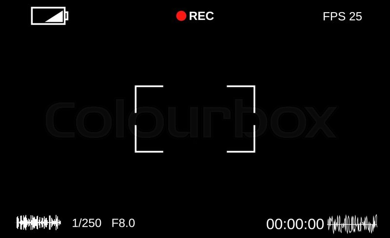 Camera Viewfinder Template Focusing Stock Vector Colourbox
