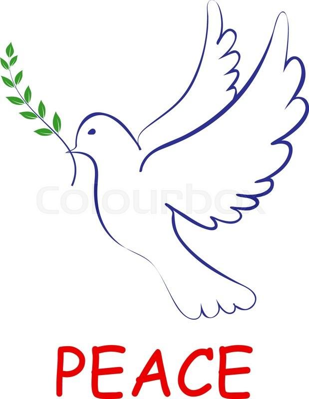 Peace Dove Symbol Outline
