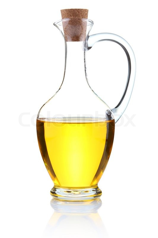 Bottle Of Olive Oil Isolated On White Stock Image