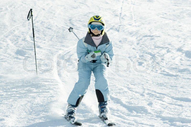 Laurence Mouton Altopress Maxppp Girl Skiing Down Ski