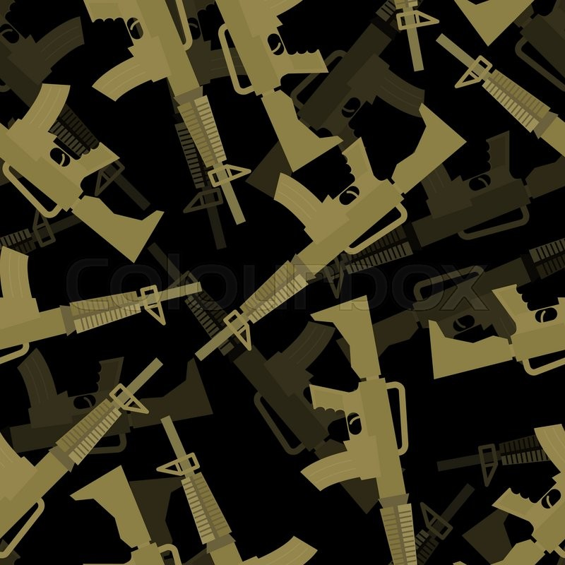 Military M60 Rifle Seamless Pattern 60d Background Of Machines Gun Mesmerizing Army Pattern