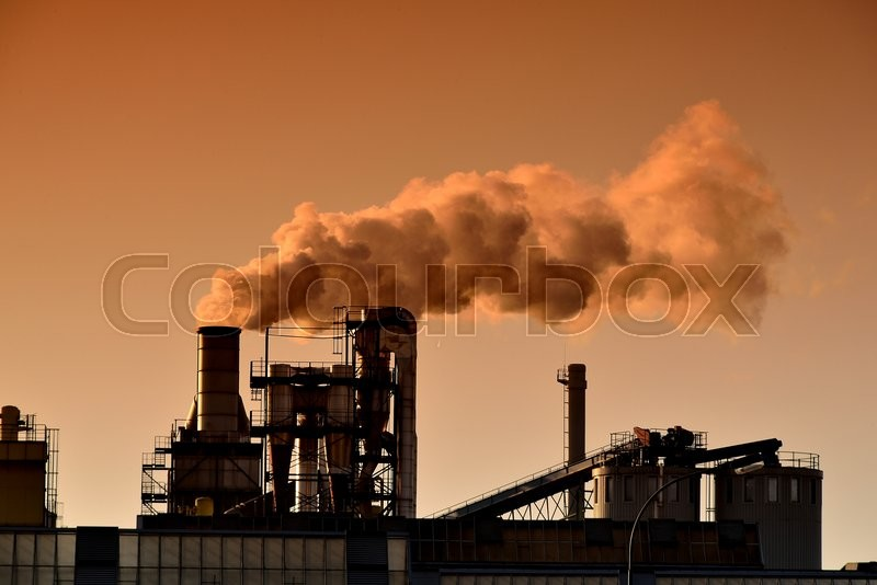 Stock image of \'smog, stack, white\'