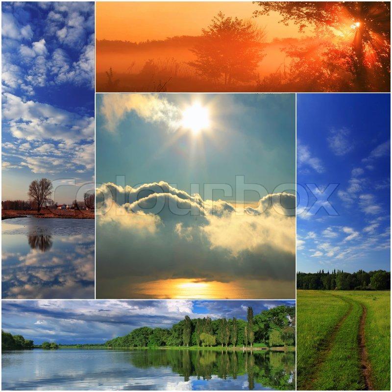 Spring Collage Of Landscapes
