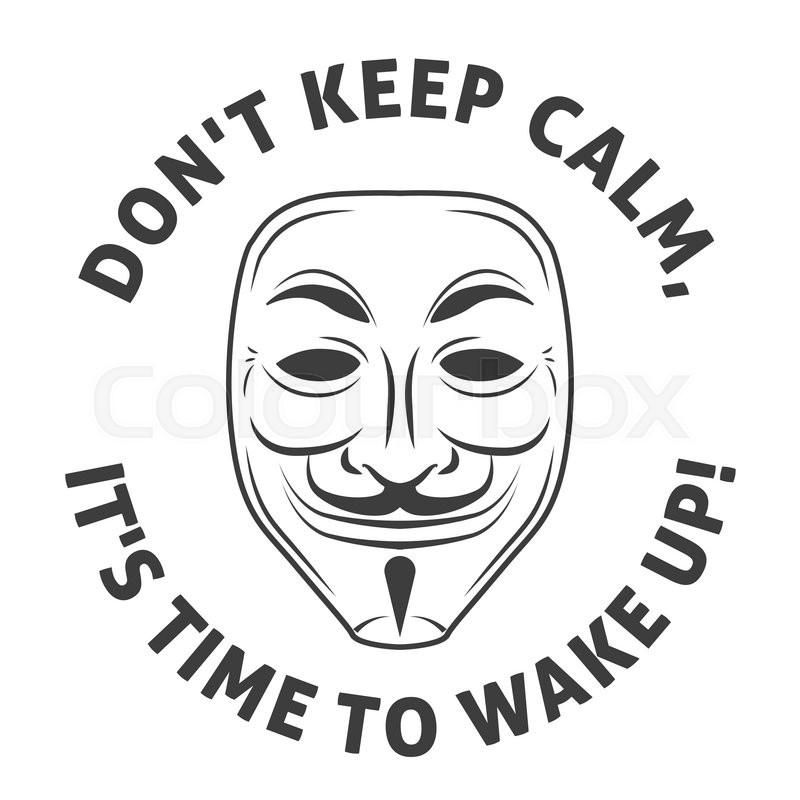 Anonymous Mask Vector Logo Hacker Stock Vector Colourbox