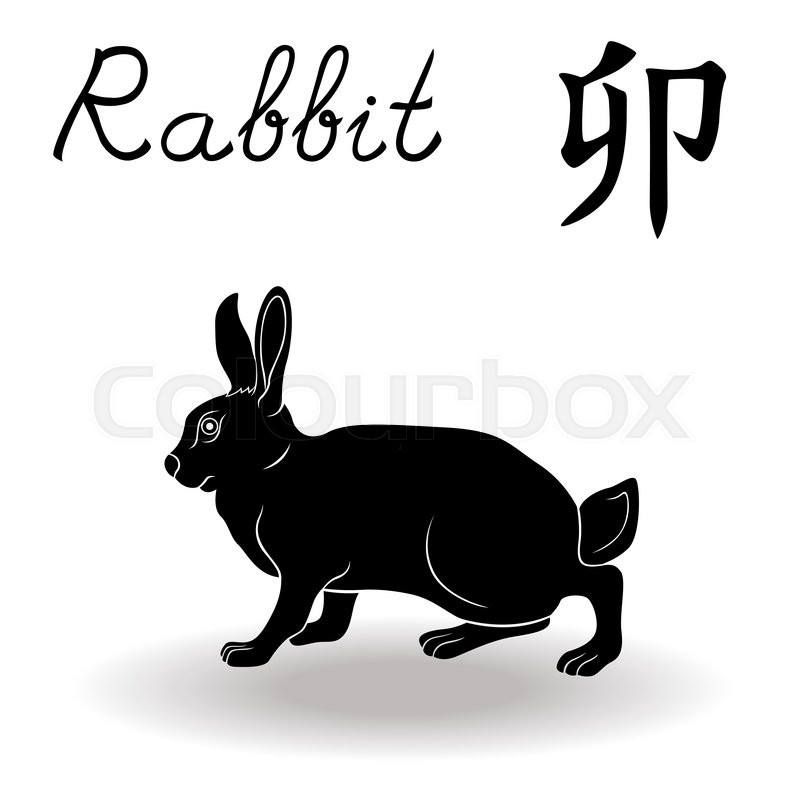 Chinese Zodiac Sign Rabbit Fixed Element Wood Symbol Of New Year