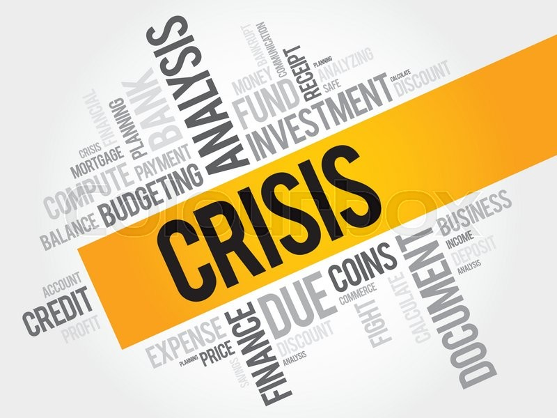 CRISIS word cloud, business concept | Stock vector | Colourbox