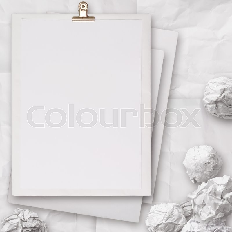Stack Of Blank Paper Book On Texture Background As Concept | Stock Photo |  Colourbox  Blank Paper Background