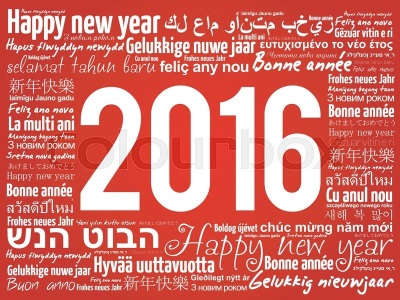 2016 happy new year in different languages celebration word cloud 2016 happy new year in different languages celebration word cloud greeting card stock vector colourbox m4hsunfo