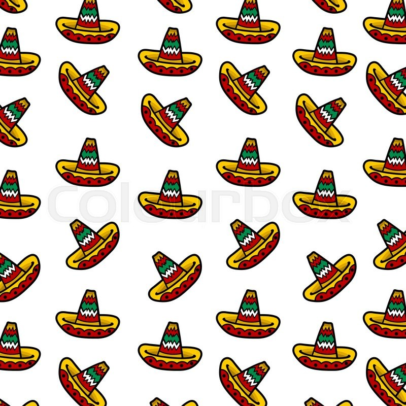 Mexican Sombrero Pattern  ac34bac7936