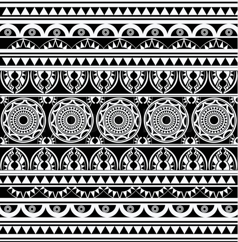 Ancient African Pattern Background Stock Vector Colourbox Amazing African Pattern