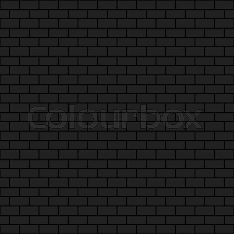 Dark Brick Wall 2d Vector Seamless Background Pattern Eps 10