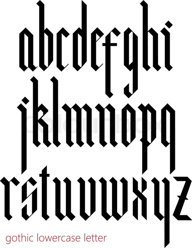 Blackletter Modern Gothic Font All Lowercase Letters