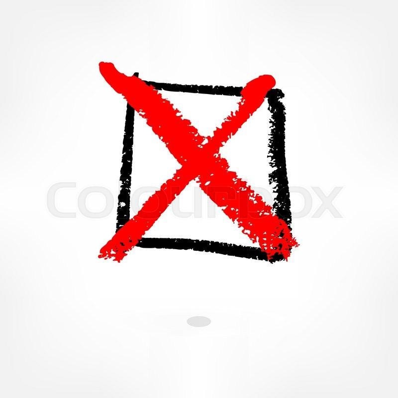 Bulleted List Is Hand Written Vector Illustration 10 Eps Blank