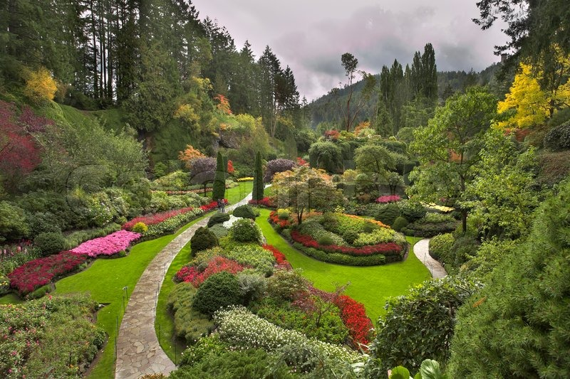 Phenomenally beautiful and picturesque garden for walks for Most beautiful garden trees