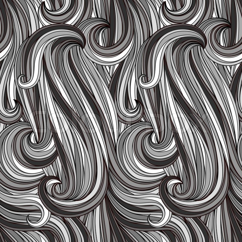 Vector seamless abstract monochrome pattern, looks like