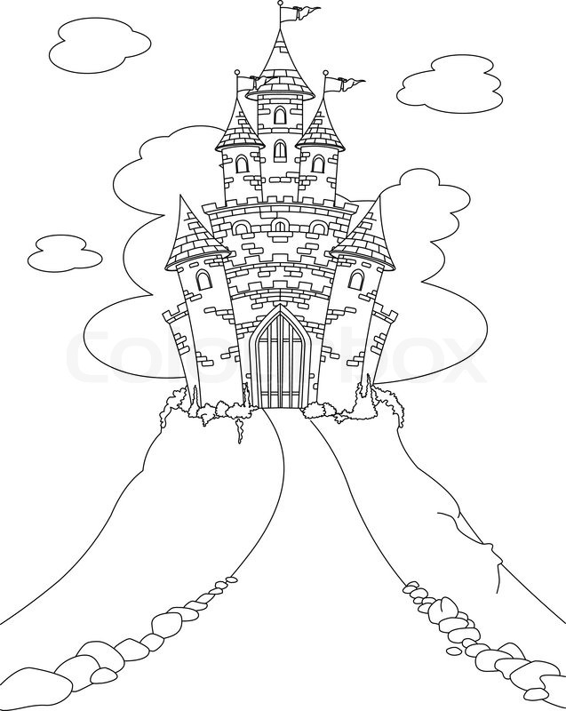 Candy Castle Drawing Fairy Tale Princess Castle