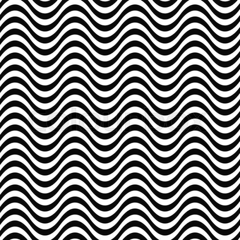repeating monochrome 3d wave line pattern design stock vector