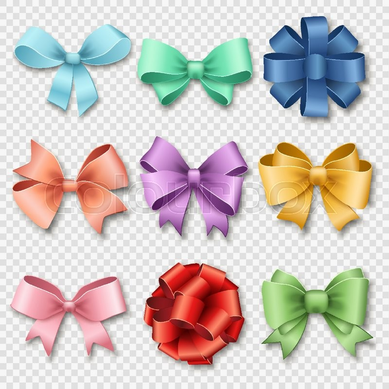 ribbons set for christmas gifts  red gift bows with