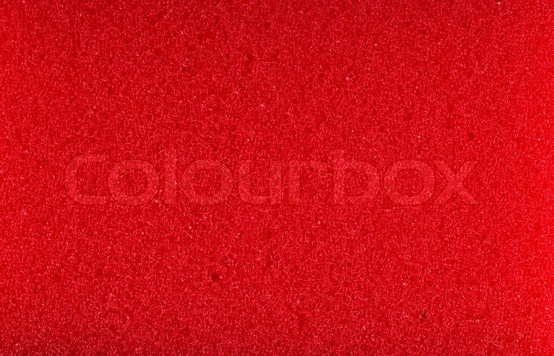Red Foam Rubber High Resolution Texture Stock Photo