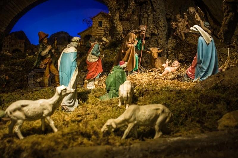 Gubbio Italy October 2015 Permanent Christmas Manger