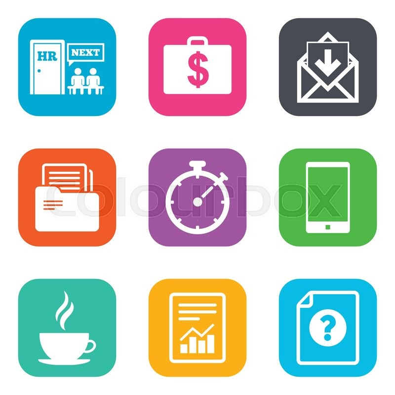 Office Documents And Business Icons Accounting Human Resources