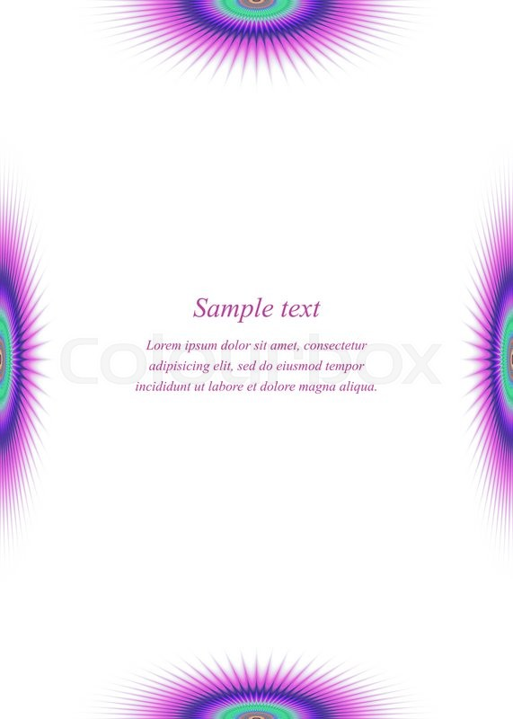 colorful page borders. Colorful page border design template for brochure  vector Stock Vector